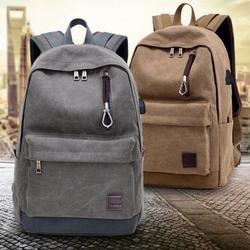 Canvas Fashion Classic Backpack Casual Student Laptop Travel Shoulder Bag Unisex Mochila Rucksacks