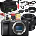 Sony ILCE-6400 a6400 Mirrorless APS-C Interchangeable-Lens Camera Body Bundle with F1.8 Full-frame Prime E-Mount Lens, 64GB Memory Card, Camera Bag, Battery and Paintshop Pro 2018