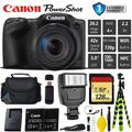 Canon PowerShot SX420 is Digital Point and Shoot Camera + Extra Battery + Digital Flash + Camera Case + 128GB Class 10 Memory Card + 1 Year Extended Warranty (Total of 2YR) - Intl Model