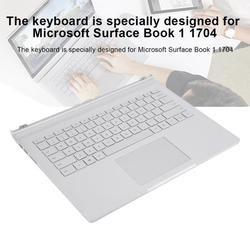 Mgaxyff For Surface Book 1 1704 Multifunctional Keyboard Replacement Silver for Notebook Laptop,For Surface Book Keyboard,Keyboard Replacement