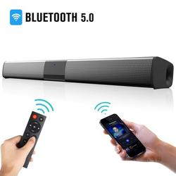 TSV Sound Bar, Wired and Wireless Home Theater TV Stereo Speaker, 3D Surround Sound Speaker Bar with The Newest Remote Control, 4 X 5W Mini Sound bar Built-in Subwoofers for Phones/Tablets/PC/Desktop