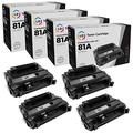 LD Compatible Replacement for 81A CF281A Black Toner Cartridge 4-Pack for MFP M630z, M605dh, M605dn, M605n, M605x, M606dn, M606x, MFP M630dn, MFP M630f, MFP M630h