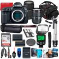 Canon EOS 5D Mark IV DSLR Camera with 24-105mm USM & 75-300mm III Lens Bundle + Battery Grip + Premium Accessory Bundle Including 64GB Memory, Extra Battery, Photo/Video Software Package, Bag & More