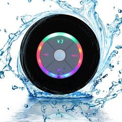 Wireless Portable Bluetooth Speaker Waterproof Bluetooth Shower Speaker Hands-free Car Portable Speaker - Black