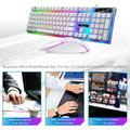 Patgoal 1PC Keyboard and Mouse Combo/ Keyboard and Mouse Gaming/ White Gaming Mouse/ Gaming Mouse and Keyboard/ Mouse and Keyboard Combo Mechanical Keyboard LED Wired Keyboar for PC Laptop Computer