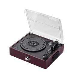 Retro USB & BT-In Turntable Record Player 3 Speed Vintage Style Vinyl Record Player with Two Dynamic Speakers
