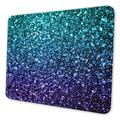 Blue Purple Gradient Glitter Design Gaming Mouse Pad Mat Mousepad Desk Pad Non-Slip Rubber Gaming Mousepad Rectangle Mouse Pads for Computers Laptop Rubber Mice Pads Stitched Edges 11.8 X 9.8inch