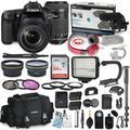Canon EOS 80D DSLR Camera Bundle with Canon 18-135mm USM Lens + Canon 55-250mm STM Lens + Professional Video Accessory Bundle Includes ECKO Headphones, Microphone, LED Light and More