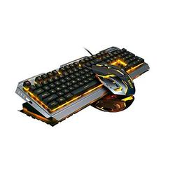 Peach Gaming Keyboard Mouse Combo,Wired Gaming Keyboard Color Changing Lighted Keyboard,PC Keyboard Computer Backlit USB Keyboard,Wired Keyboard,for Prime Xbox One PS4 Game Gamers