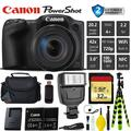 Canon PowerShot SX420 is Digital Point and Shoot Camera + Extra Battery + Digital Flash + Camera Case + 32GB Class 10 Memory Card + 2 Year Extended Warranty (Total of 3YR) - Intl Model