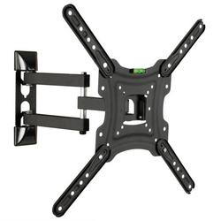 """Full Motion TV Wall Mount Bracket for 14-55"""" TVs, Swivel TV Wall Mount – Wall Mount TV Bracket with TV Center Design, up to VESA 400x400mm and 66LBS"""