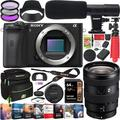 Sony a6600 Mirrorless Camera 4K APS-C Camera Body ILCE-6600B Bundle with 16-55mm F2.8 Zoom G Lens SEL1655G + Deco Gear Condenser Microphone + Travel Case Bag + Photo Video Software Kit + Accessories
