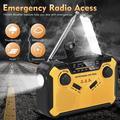 Emergency Weather Radio, Portable Hand Crank Solar AM/FM/NOAA Weather Radio, With Phone Power USB Charger, Reading Lamp, Flashlight And SOS Alarm, Suitable For Home And Emergency Situations