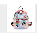 Puloru Girl Transparent See Through PVC Mini Backpack Cute School Book Bag Hot Vogue Laser Jelly Individuality Backpack Color Clear