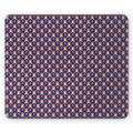 Clown Mouse Pad, Continuous Joyful Fun Pattern with Sweets Ice Creams Happy Man Pattern, Rectangle Non-Slip Rubber Mousepad, Indigo and Multicolor, by Ambesonne