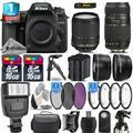Nikon D7500 Camera + AFS 18-140mm VR + 70-300mm VR + Extra Battery +1yr Warranty