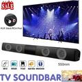 Remote Control Bluetooth Sound Bar Wired Wireless Bass Subwoofer Home Theater TV Speaker