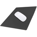 Aluminum Metal Mouse Pad Gaming Mouse Pad Aluminum Mouse Pad, Mouse Pad with A Smooth Precision Surface and Non-slip Rubber Base Black