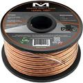 Mediabridge 16AWG 2-Conductor Speaker Wire (100 Feet, Clear) - Spooled Design with Sequential Foot Markings (Part# SW-16X2-100-CL )