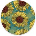 """Round Mouse Pad, Watercolor Sunflowers Mouse Pad, Pretty Gaming Mouse Mat Waterproof Circular Small Mouse Pad Non-Slip Rubber Base MousePads for Office Home Laptop Travel, 7.9""""x0.12"""" Inch"""