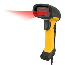 Adesso NuScan 5200TU Antimicrobial & Waterproof 2D Barcode Scanner - Yellow/Black