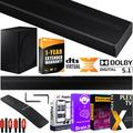 Samsung HW-Q60T 5.1ch Acoustic Beam Soundbar with Dolby Digital 5.1 / DTS Virtual:X Theater 3D Surround Sound Q Series Bundle With 2x Deco Gear HDMI Cables + Streaming Kit + Extended Coverage