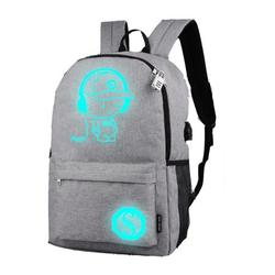 Hazel Tech-Backpack Laptop Backpack Travel Backpack Luminous Animation Backpack Usb Charge Computer Anti-Theft Laptop Backpack Outdoor Backpack