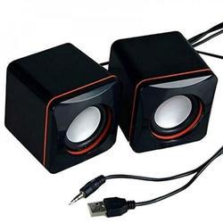 Portable USB Powered Computer Speaker Transparent Sound Home Speaker Mini Speaker for Laptop Laptop Host PC Black