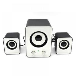 Abcelit Multimedia Bass Speaker PC Hifi Speakers Stereo Sound USB Powered for Computer and Laptop
