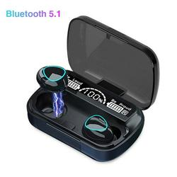 Wireless Earbuds, Bluetooth 5.1 Wireless Earbuds, LED Display Wireless Bluetooth Headphones, Bluetooth Earbuds in-Ear with Charging Case, Waterproof Touch Sports Wireless Headphone for Gym, R3716