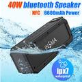 INSMA S400 PLUS Wireless bluetooth Speaker Support NFC IPX7 Waterproof Shockproof 40W High Power Stereo Subwoofer Portable Outdoor Speaker Boombox, 6600mAh Battery