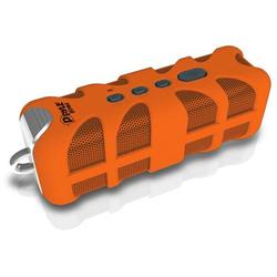 Upgraded Pyle Splash SoundBox Waterproof Bluetooth Speaker, Portable Wireless Outdoor, Enhanced Bass, USB, 3.5mm AUX, IPX4 Splashproof Speaker, Water Resistant, Beach, Shower - Orange (PWPBTA70OR)
