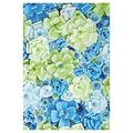 ABPHOTO Polyester 5x7ft Photography Backdrops handmade Blue+Green Paper Flowers wall photo spring newborn kids baby shower studio