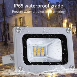 Topcobe 10W LED Flood Light Fixture for Outdoor, Super Bright LED Work Light, IP65 Waterproof Outdoor LED Security Light Wall Light for Garage, Patio, Garden, Porch, Yard, Cold White