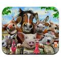 Farm Selfie Horse Pig Chicken Donkey Cow Sheep Low Profile Thin Mouse Pad Mousepad