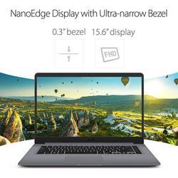 "ASUS VivoBook 15.6"" FHD IPS LED Flagship WideView Laptop AMD Quad Core A12-9720P 8GB RAM 512GB SSD Fingerprint Reader USB-C 802.11ac Windows 10"
