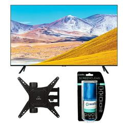 """Samsung UN65TU8000 65"""" 8 Series Ultra High Definition Smart 4K Crystal TV with a Walts TV Large/Extra Large Full Motion Mount for 43""""-90"""" Compatible TV's and Walts HDTV Screen Cleaner Kit (2020)"""