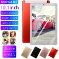 10.1 Inch WiFi Tablet, PC Android 7.1 Ten Core 4G Netwerk 2560*1600 IPS Screen Dual SIM Dual Camera Tablet 4G+64G Memory-Red