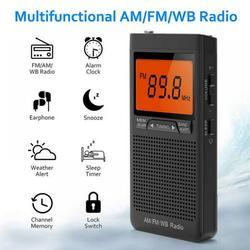 Eleanos Emergency Pocket NOAA AM FM Weather Radio Compact Portable Auto-Search Battery AM FM Radio Weather Hand-cranked radio Weather forecast radio