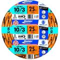 Southwire 63948421 25' 10/3 with ground Romex brand SIMpull residential indoor electrical wire type NM-B, Orange, Coated in patented SIMpull Cable.., By Visit the Southwire Store