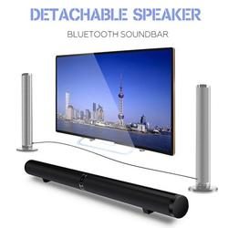 50W HiFi Detachable Wireless bluetooth Soundbar Speaker Stereo with Subwoofer Home Theatre System 40 Inch Sound Bar for TV Television Notebook Smartphone Tablet