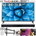 """LG 65UN7300PUF 65 inch 4K Smart UHD TV with AI ThinQ 2020 Model Bundle with 31 inch Soundbar 2.1 CH, Flat Wall Mount Kit, 6-Outlet Surge Adapter and TV Essentials 2020(65UN7300 65"""" TV)"""