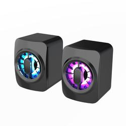A1 Computer Speaker Portable Mini RGB Speaker USB Powered 3.5mm Wired Sound Box 6W Subwoofer Control for Laptop Desktop Computer Tablet PC Smartphone