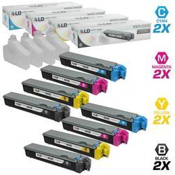 LD Compatible Replacements for Kyocera-Mita 8PK TK-522 Laser Toner Cartridges Includes: 2 TK-522K Black, 2 TK-522C Cyan, 2 TK-522M Magenta, & 2 TK-522Y Yellow for use in Kyocera-Mita FS-C5015N