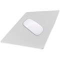Aluminum Metal Mouse Pad Gaming Mouse Pad Aluminum Mouse Pad, Mouse Pad with A Smooth Precision Surface and Non-slip Rubber Base Silver