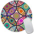 Floral Flower Mandala Round Mouse Pad,Beautiful Mouse Mat, Cute Mouse Pad with Design, Non-Slip Rubber Base Mousepad, Waterproof Office Mouse Pad, Small Size 7.9 x 0.12 Inch