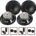 """2 Pair Cerwin Vega 2-Way 6.5"""" Component Speaker System Tweeter Crossover XED650C, Two 6.5 2-Way Component Speaker Systems By Visit the CerwinVega Store"""
