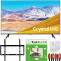 Samsung 75-inch UN75TU8000 4K Ultra HD Smart LED TV (2020 Model) Crystal Processing 4K Bundle with TaskRabbit Installation Services + Deco Gear Wall Mount + HDMI Cables + Surge Adapter