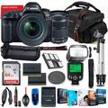 Canon EOS 5D Mark IV DSLR Camera with 24-105mm Lens Bundle + Battery Grip + Premium Accessory Bundle Including 64GB Memory, Extra Battery, Filters, Photo/Video Software Package, Shoulder Bag & More