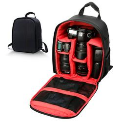 TSV Camera Backpack Bag Professional for DSLR/SLR Mirrorless Camera, Waterproof Camera Case Casual Backpack Shoulder Bag Compatible with Sony Canon Nikon Camera and Lens Tripod Accessories, Black
